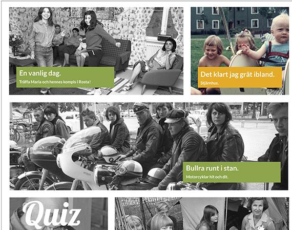 Till utställningen Vi blir Örebro formgav vi webbapplikation som visas i ipads.