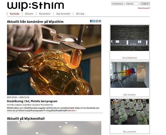 En av de webbplatser som Unna design har designat.